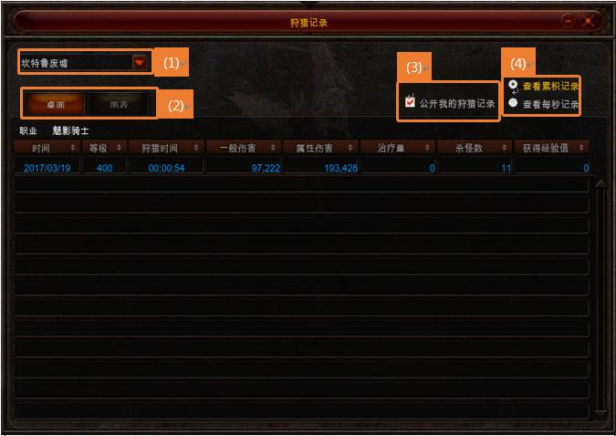 SeasonXI-2贤者之石-狩猎记录系统